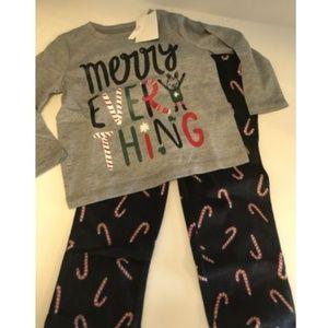 NWT Girls Joe Fresh Christmas Pajama Set 2T